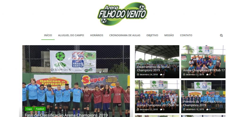 Site Arena Filho do Vento